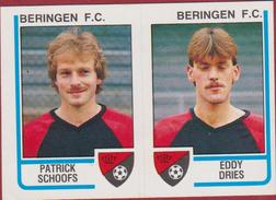 Panini Football Belgie Belgique 86 Voetbal 1986 Sticker FC Beringen Nr. 382 Patrick Schoofs Eddy Dries - Sports