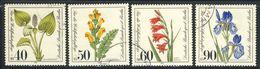 """1981 Berlin Complete VF Used Set Of 4 Semi Postal Stamps """" Flowers"""", Michel # 650-653 - [5] Berlin"""