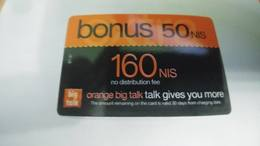 Israel-orange Bt-97-(160new Sheqalim+50 Sheqalim Bouns-160sheqalim)-(card Board)-(23)(not Date)-mint Card-look Out Side - Israël