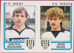 Panini Football Belgie Belgique 86 Voetbal 1986 Sticker FC Diest Nr. 396 Jean-Paul Massignani Johan Moons - Sports