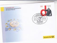 2001 EURO Currency GERMANY SPECIAL COVER Arnold Bolde Stamps Verkaufsende Fur Postwertzeichen Mit Reinen PF Werten Coin - European Ideas