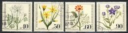 """1980 Berlin Complete VF Used Set Of 4 Semi Postal Stamps """"Flowers"""", Michel # 629-632 - [5] Berlin"""