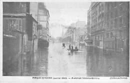 PARIS - INONDATIONS 1910  ( Série Paris Inondé ) Avenue Ledru Rollin - CPA - Crue De La Seine - De Overstroming Van 1910