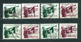 Deutsches Reich 1935, MiNr 584-585, Used (2) - Lot Of 4 Sets - Oblitérés