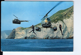 S2749 Cartolina: Cooperazione Tra Elicotteri E Carabinieri Subacquei  _ Hélicoptère, Helicopter, Elicottero - Elicotteri