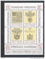 Danemark 1985 Bloc Feuillet N° 5 Neuf Hafnia 87 Avec Anciens Documents Postaux
