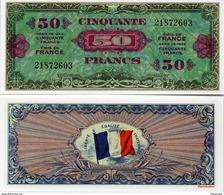 """Militaria - Billet De 50 Francs Dit """"d'invasion"""" édité Par Les Américains En 1944 - Specimen"""