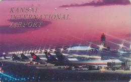 Télécarte Japon / 110-011 - AVIATION - UNITED AIRLINES / USA & KANSAI AIRPORT - Airplane Japan Phonecard - Avion 2144 - Avions