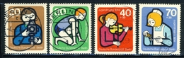 """1974 Berlin Complete VF Used Set Of 4 Semi Postal Stamps """" Children At Work"""", Michel # 468-471 - Used Stamps"""