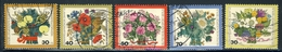 "1974 Berlin Complete VF Used Set Of 5 Semi Postal Stamps "" Flowers & Christmas"", Michel # 473-476,481 - [5] Berlin"