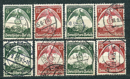 Deutsches Reich 1935, MiNr 586-587, Used (4) - Lot Of 4 Sets - Used Stamps