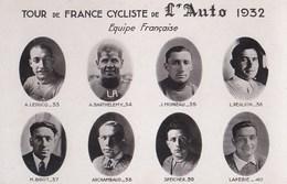 Carte Postale Photo : Tour De France Cycliste De L'Auto 1932 Equipe Française - Cycling