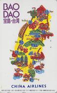 Télécarte Japon / 110-011 - AVIATION / CHINA AIRLINES - Taipei Taiwan Etc - AIRLINE JAPAN Phonecard - Avion 2168 - Avions
