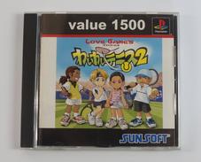 PS1 Japanese : Love Game's: Wai Wai Tennis 2 SLPS 02983 - Sony PlayStation