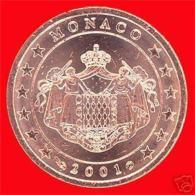 MONACO : Pièce De 2 Centimes 2001, Neuve. - Monaco