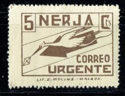 NERJA  Correo Urgente 5 Cts  * - Spanish Civil War Labels