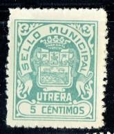 UTRERA  Sello Municipal  5 Cts  (*) - Viñetas De La Guerra Civil