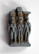 Egypt Blue Glazed Faince Triad Amulet - Archéologie