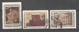 Russia/USSR 1950,Vladimir Lenin & His Office,Lenin's Museum,Sc 1435-1437,USED
