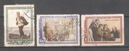 Russia/USSR 1952,Vladimir Lenin,Sc 1612-1614,USED