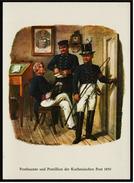 Postbeamte Und Postillion Der Kurhessischen Post 1850  -  Ansichtskarte Ca.1975    (6593 ) - Post