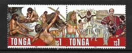 TONGA 1996 PREHISTOIRE-EGYPTE  YVERT N°1053/54 NEUF MNH**