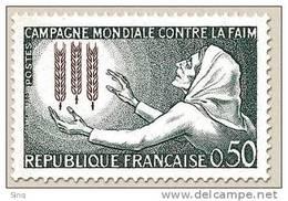 N° 1379 Campagne Contre La Faim Faciale 0,50 F - Neufs