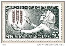 N° 1379 Campagne Contre La Faim Faciale 0,50 F - Ungebraucht