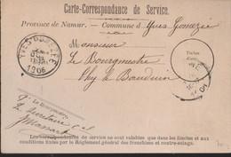 CARTE CORRESPONDANCE DE SERVICE  YVES-GOMEZEE  HANDTEK. BURGEMEESTER - Europe