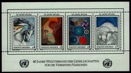 Vereinte Nationen Wien 1986 - MiNr Block 3 (64-67) - Blocks & Kleinbögen