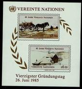 Vereinte Nationen Wien 1985 - MiNr Block 2 (51-52) - Blocks & Kleinbögen