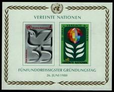 Vereinte Nationen Wien 1980 - MiNr Block 1 (12-13) - Blocks & Kleinbögen