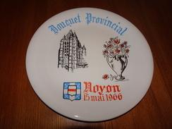 Assiette Bouquet Provincial Noyon, Oise, 15 Mai 1966, Tir à L'arc, Archerie, Beursault, ÉTAT NEUF, Blason - Tiro Al Arco