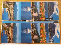 LUGANO - Lago - Cartolina Stereoscopica - Stereoscopic View 3D - Cartoline Stereoscopiche
