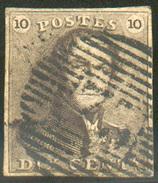 N°1 - Epaulette 10 Centimes, Margée Obl. P.73 LIEGE - 11620 - 1849 Epaulettes