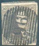 N°1 - Epaulette 10 Centimes, Touchée à Droite Sinon Amrgée Et Voisin, Obl. P.96  PHILIPPEVILLE Centrale - 11622 - 1849 Epaulettes