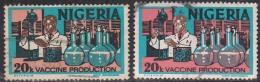 Shade / Colour Variety, Used 1973, 2 Diff., Nigeria , 20k Vaccine Production, Chemistry Lab, Health, Medicine,