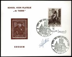 Belgien Belgium - 1971 - School Voor Filatelie 'De Tassis' Edegem - Philatelie & Münzen
