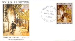 Wallis Et Futuna -  Maurice Utrillo 1985 (FDC) - Wallis En Futuna