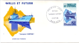 Wallis Et Futuna -  Kriegsschiffe / Warships 1985 (FDC) - Brieven En Documenten