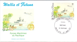 Wallis Et Futuna -  Pazifikflotte 1993 (FDC) - Used Stamps