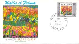 Wallis Et Futuna -  Kunst / Art 1993 (FDC) - Used Stamps