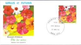 Wallis Et Futuna -  Muttertag / Blumen 1993 (FDC) - Used Stamps