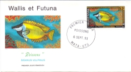 Wallis Et Futuna -  Fische / Fish 1993 (FDC) - Used Stamps
