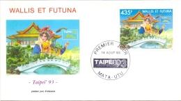 Wallis Et Futuna -  TAIPAI 1993 (FDC) - Used Stamps