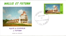 Wallis Et Futuna -  Kirchen 1993 (FDC) - Used Stamps