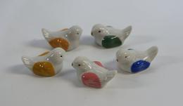 5 Porcelain Birds - Birds