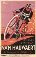 * T3 Cycles & Pneus Van Hauwaert, Bruxelles, Boulv. Baudouin 32 / Belgian Bicycle And Tire Shop Advertisement... - Postcards