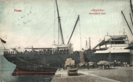 T2 Fiume, Carpathia Kivándorlási Hajó. Ad. Kirchhoffer & Co. / Immigration Ship - Postcards