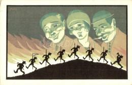 ** T1/T2 Sziluettes Cserkész Művészlap / Silhouette Scout Art Postcard, Litho S: Mátis - Unclassified